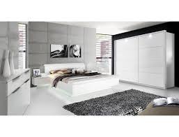 schlafzimmer 21 weiß teils hochglanz bett nakos schrank kommode expendio