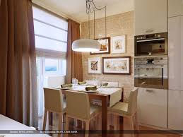 KitchenMarvelous Small Kitchen Dining Room With Brick Wall And Wood Floor Also Three