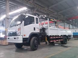 China Sinotruk Cdw 4X2 Light Mounted Truck Crane 8 Ton Truck Crane ...