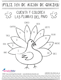 Spanish Thanksgiving Coloring Sheet On Spanglishbaby Finds