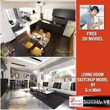 Floor Materials For Sketchup by Sketchup Texture Sketchup Free Model Living Room V Ray Setting