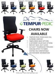 Tempur Pedic Office Chair by Eurotech Tempur Pedic Chairs Re Business Solutions