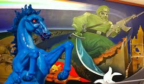 denver international airport murals pictures satanic murals and monuments at the denver airport the