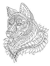 Coloring Pages For Adults Wolf 3