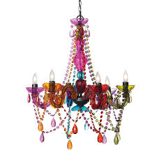Colored Glass Chandelier Modern Interesting Colorful Breathtaking