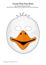 Goose Role Play Masks SB11154 A Simple Printable