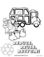 Recycling Coloring Page Here Is A Of Truck Picking Up The Neighborhood
