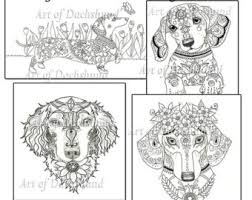 Art Of Dachshund Coloring Book Volume No 1