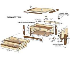 free wood plans jewelry box old woodwork benches