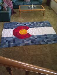 Rebel Flag Bedding by Homemade Colorado Flag Quilt College Comforter Out Of Old Jeans