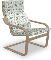 Amazon.com: Ambesonne Botany Poäng Armchair Slipcover ... Ikea Ektorp Armchair Chair Slipcover Cover Nordvalla Dark Gray New Sealed Pong Birch Veneer Hillared Beige Poang Poang Chair Covers Indoor Chairs And Ottoman Replacement Cushions Solid Teal Blue Suede Childs Jordansneakersco Ikea And Leather Fniture Tables Hexagon Blush Pink Turquoise Seat