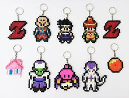 Dragon Ball Z Decorations by Dragonball Z Character Hama Perler Bead Keyrings Bag