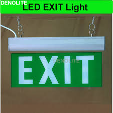 led exit sign l rechargeable emergency light with ni cd1 2v