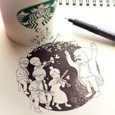 Starbucks Coffee Cup Doodles