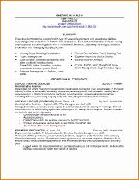 Cover Letter Executive Assistant Resume Administrative Summary 2018