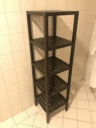 ikea molger badezimmer regal braun