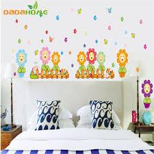 Decal Flower Wall Sticker Cartoon Daisy Baseboard Home Decoration Waterproof PVC Kitchen Tile Stickers