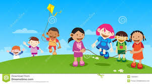 Kids Playing Outside Stock Illustration Of Friends
