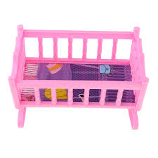 Sweet Plastic Rocking Bed Baby Doll Cradle Model For 20cm Dolls House Or  Nursery Bedroom Furniture Pink Realistic Dolls Childrens Dolls From  Diangame, ...