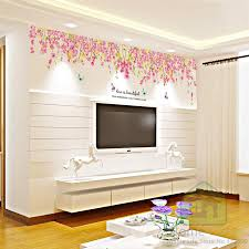 large size flowers butterflies diy vinyl wall stickers home decor