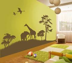 Astonishing Animal Wall Decals For Kids Bedroom Themes To Cheering Up The