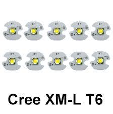10pcs cree xm l t6 led chip high power 10w cree t6 led bead