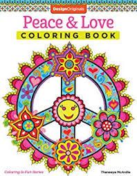 Peace Love Coloring Book Design Originals