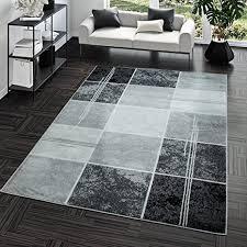 teppich preiswert karo design modern wohnzimmerteppich grau schwarz top preis größe 120x170 cm