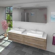 badmöbel set city 201 v1 eiche braun badezimmermöbel waschtisch 200 cm 16510 ohne spiegelschrankbeleuchtung