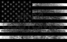 American Flag Decal Sticker Reversed Vintage Worn USA Rustic Tactical