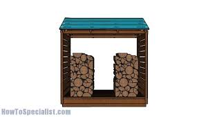 firewood shed roof plans howtospecialist how to build step by