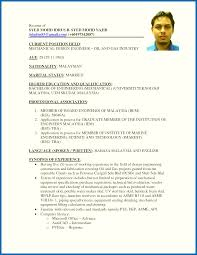 Resume For Job Malaysia Awesome Collection Of Marine Summary Graduate Student Sample Cool Examples