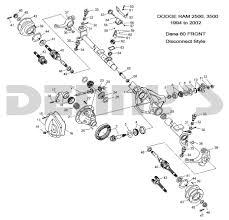 100 Dodge Ram Truck Parts Dana 60 Disconnect Front Axle Parts For 1994 To 2002 RAM