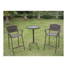 3 Piece Bar Height Patio Bistro Set by Quality Outdoor Patio Dining Sets Best Deals Online
