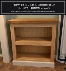 how to build a bookshelf in two hours or less woodworking