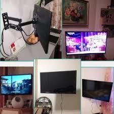 support tv mural inclinable pour téléviseur 14 42 pouces noir