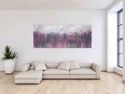 abstraktes acrylbild zeitgenössisch rosa taupe grau weiß modern expressionistisch