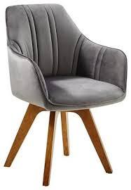 stuhl drehbar mit samtbezug in grau kaufen stühle sessel