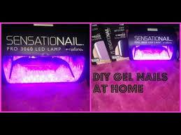 Sensationail Led Lamp Walmart by Sensationail Gel Nails At Home Tutorial Youtube