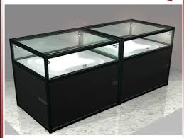 Glass Wooden Jewellery Store Display Counter