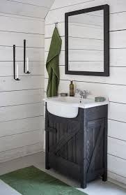 Bathroom Vanity Rustic Unique White Ideas Floating Style Modern Minimalist Mirrors Decor Black Faucet Dual Lever Handle Rectangle