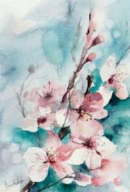 Cherry Blossom Painting WallsPainting ArtWatercolour PaintingWatercolor