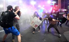 Nh Pumpkin Festival Riot by Police Fire Pepper Spray To Disperse Protesters Outside Trump