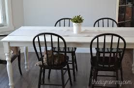 Shabby Chic Dining Room Table And Chairs by A Shabby Chic Farmhouse Table With Diy Chalk Paint The Diy Mommy
