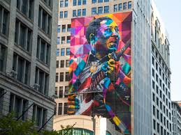 Big Ang Mural Chicago by Muddy Waters Arrives On State Street Loopchicago Com Chicago