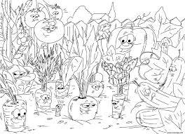 Coloriage Nature Jardin De Legumes Carottes JeColoriecom