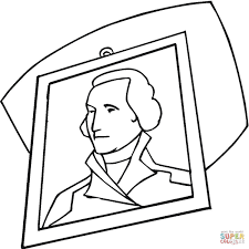 Click The George Washington Portrait Coloring Pages To View Printable