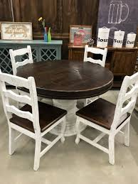 """LN MES 137-58FI 48"""" Round Pedestal Table With 4 Florence Chairs Sunset Trading Co Selections Round Dinette Table Winners Only Quails Run 5 Piece Pedestal And 42 Ding With 4 Side Chairs Shown In Rustic Hickory Brown Maple An Asbury Finish Oak Set Rustica 54 W What I Want For My Kitchena Small Round Pedestal Table Archivist Crown Mark Camelia Espresso Glass Top Family Wood Kitchen Room Breakfast Fniture Modern Unique Sets Design Models New Traditional Cophagen 3piece Cinnamon"""