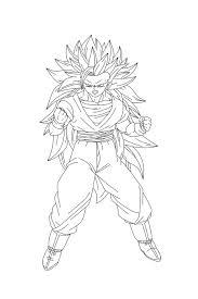 Goku Para Colorear Facil 🥇 Biblioteca De Imágenes Online