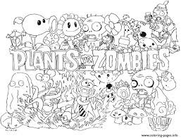 2 Plants Vs Zombies Coloring Pages Print Download
